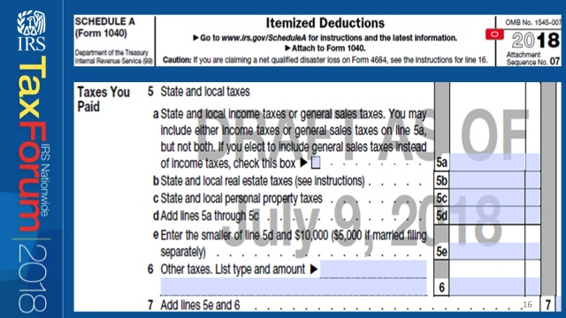 Highlights of Tax Changes from a Tax Forms Perspective